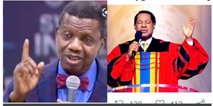 "Hours After Pastor Chris Said ""Don't Criticize A Pastor"", See What Pastor Adeboye Posted On Twitter."