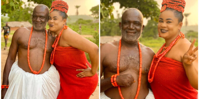 See Latest Photos Of Uju Okoli And Her Father Obi Okoli Who Is Also An Actor