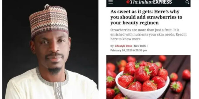 Strawberries from Plateau - Bashir Ahmad blasted for using Google photo