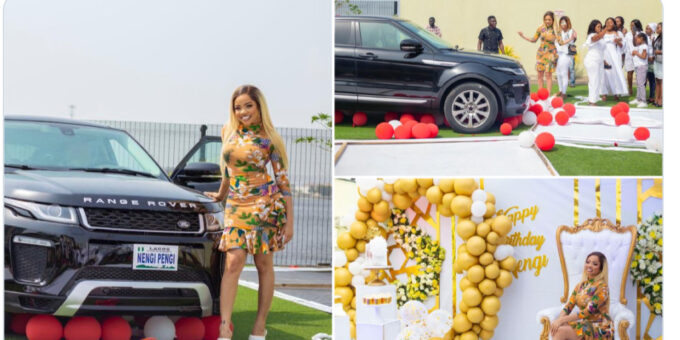 BBNaija: Nengi Appreciative Fans For Gifting Her A Range Rover On Her Birthday (Photos)