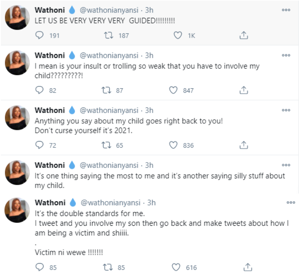 Anything you say about my child goes back to you - BBNaija's Wathoni slams Twitter trolls