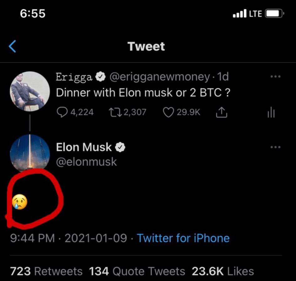 Elon Musk Reacts To Erigga's Tweet