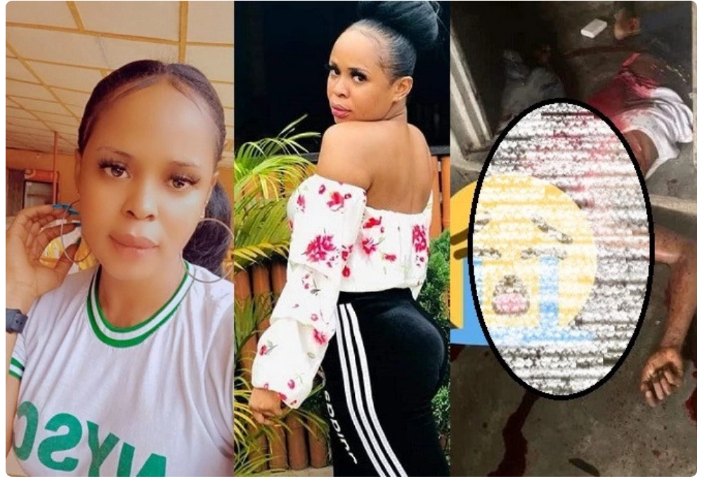 Graphic: Corper arrested for allegedly hacking her partner to death in Akwa Ibom