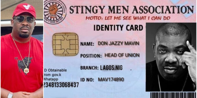 Nigerian Music Maker Don Jazzy Joins The Stingy Men's Association