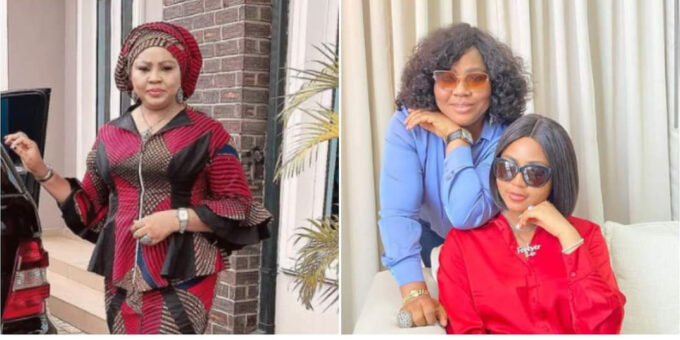 Fans celebrate with Regina Daniels' mum as she turns a year older