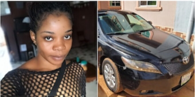 I bought what my salary can afford - Wizkid's 1st baby mama slams people teasing her for driving Toyota Camry (video)