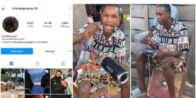 Road to stardom: Drake follows young Nigerian boy who recently went viral for rap skills, hits 65k fans on IG