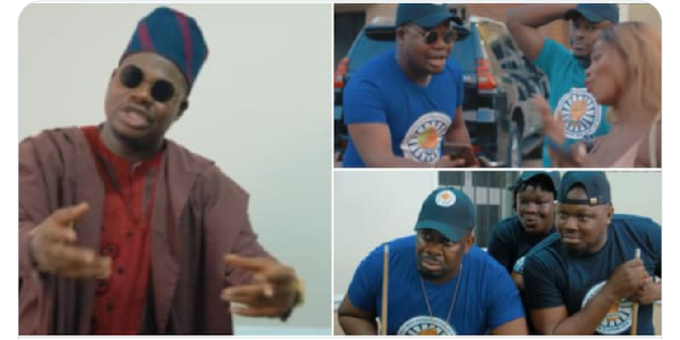 Don Jazzy catches Mr Macaroni giving a lady money after joining Stingy Men Association (video)