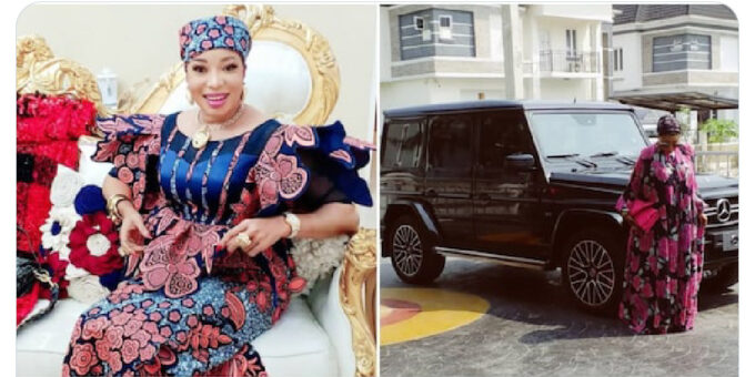 Nollywood actress Lizzy Anjorin joins the G-Wagon gang (photo)