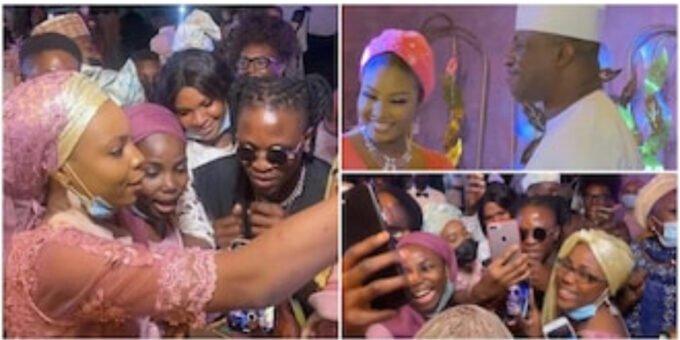 Videos: Laycon's fans turn wedding of ex-speaker Dimeji Bankole into concert