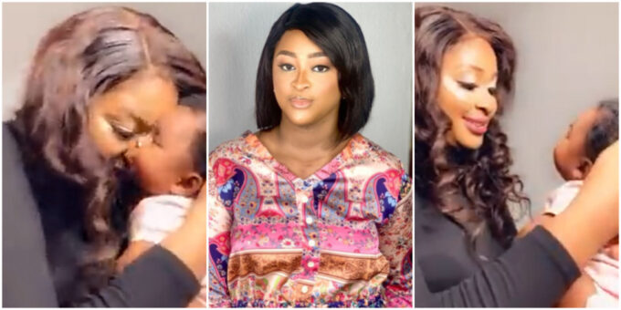 Etinosa Idemudia shares adorable video of her daughter Kris spending time with grandpa
