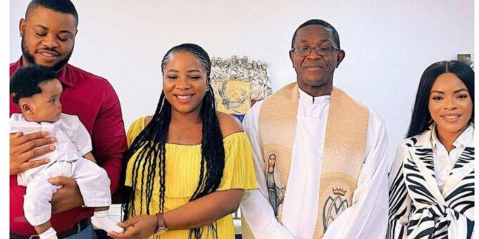 Sandra Ikeji Christens Her New Born Son In The Church (Photos)