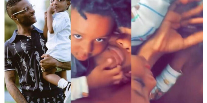 """""""Somebody Help Me"""" – Wizkid Cries For Help After His Son, Zion Did This (Video)"""