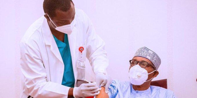 President Buhari & VP Yemi Osinbajo receives Covid-19 vaccine in Abuja
