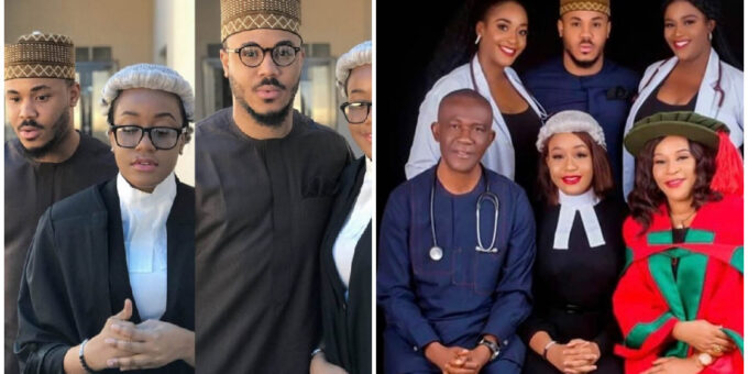 """3 Doctors And A Barrister"" – Ozo Proudly Celebrates His Gorgeous Mom And Three Sisters On IWD (Photo)"