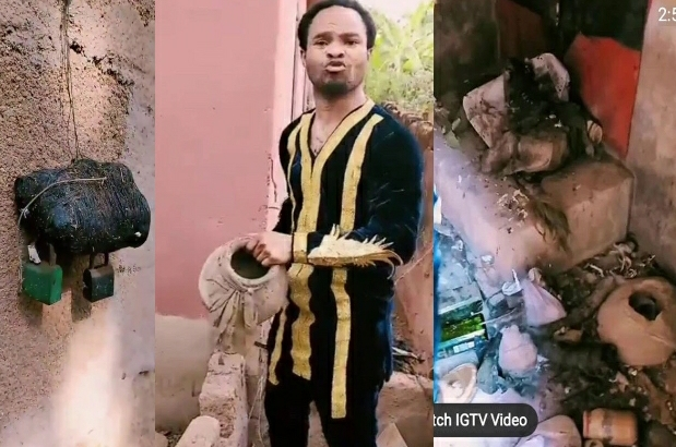 Prophet Odumeje Shows Satan Where True Power Lies As He Destroys Idols In A Community [VIDEO]