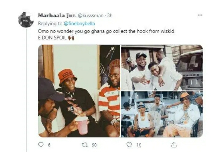 """""""Even Don Jazzy Can't"""" – Fans Drag Bella Shmurda After Announcing New Song With Burna Boy, Wizkid & Davido"""