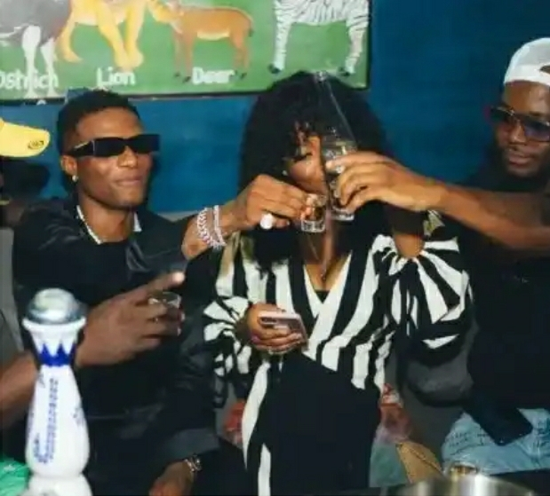 More Photos Of Wizkid And Gyakie Getting Comfortable In Each Other's Arms