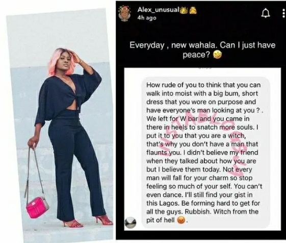 Alex Unusual Reacts After Being Called A Witch Over Her Confidence And Dressing