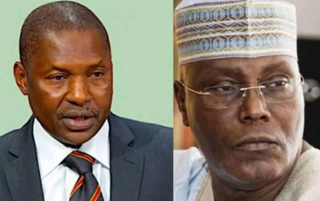 """""""Atiku is not a Nigerian by birth, not qualified to run for president"""" - AGF Malami"""