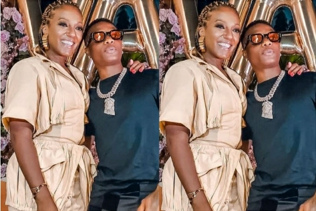 Wizkid Spotted Chilling With President Nana Akuffo Addo's Daughter, Valerie