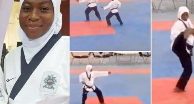 Watch How Heavily Pregnant Athlete Won Gold Medal In Taekwondo At Edo 2020 (VIDEO)
