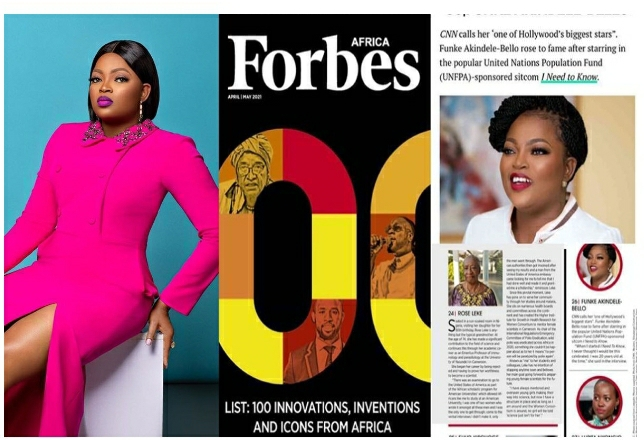 'I'm So Honored' – Actress, Funke Akindele Jubilates As She Makes It To Forbes List