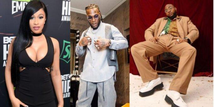 Cardi B and Davido clash after she declared Burna boy as Africa greatest Artiste