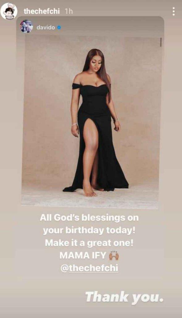 Happy Birthday Mama Ify - Davido Demotes Chioma To Babymama Status On Her Birthday