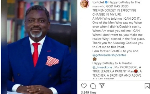 Tonto Dikeh Shows Face Of the Man Who Changed Her Life For The First Time (Photo)