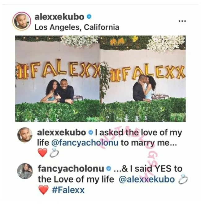 Alex Ekubo Finally Engages His Long Time Girlfriend Fancy