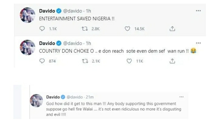 """""""Country don Choke, Na Desmond Elliot Cause Am"""" – Davido Says As He Flies Out Of Nigeria For US (VIDEO)"""