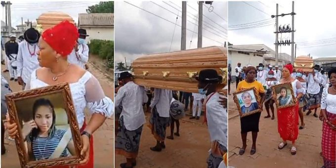 Nigerians react as video from late Ada Jesus' burial ceremony emerges online
