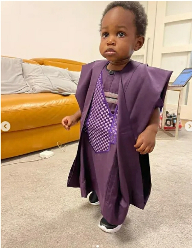 Zlatan Ibile's Look-Alike Son Looking Stunning In Ankara Outfit [PHOTOS]