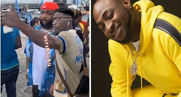 Singer Davido's Bodyguard Pushes Away A Fan Trying To Take A Pic With Him [VIDEO]