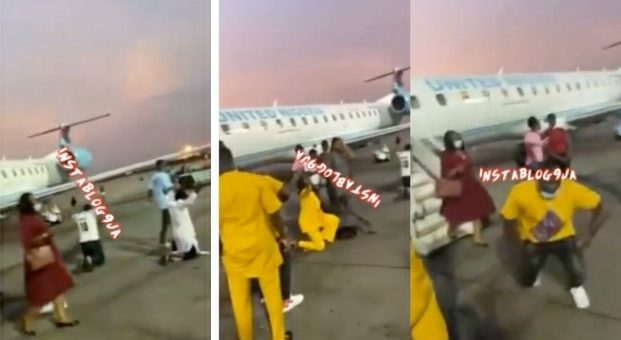 Flight Passengers Kneel To Thank God After Surviving A 30 Minutes Terrible Turbulence (VIDEO)