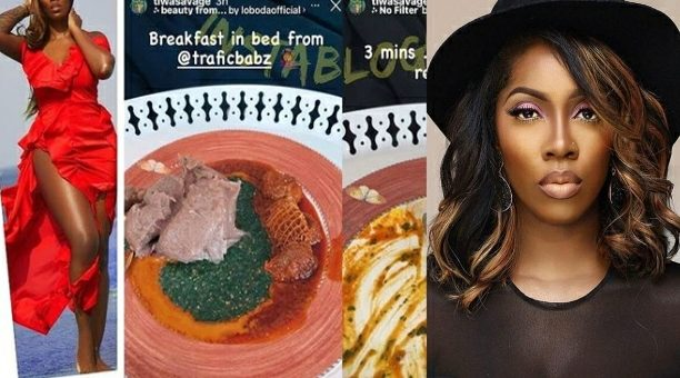 Tiwa Savage Sets New Eating Record After Devouring A Bowl Of Amala in 3 mins