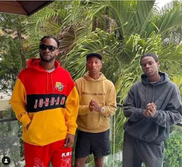 Rema, D'Prince Meet Pharrell Williams in US