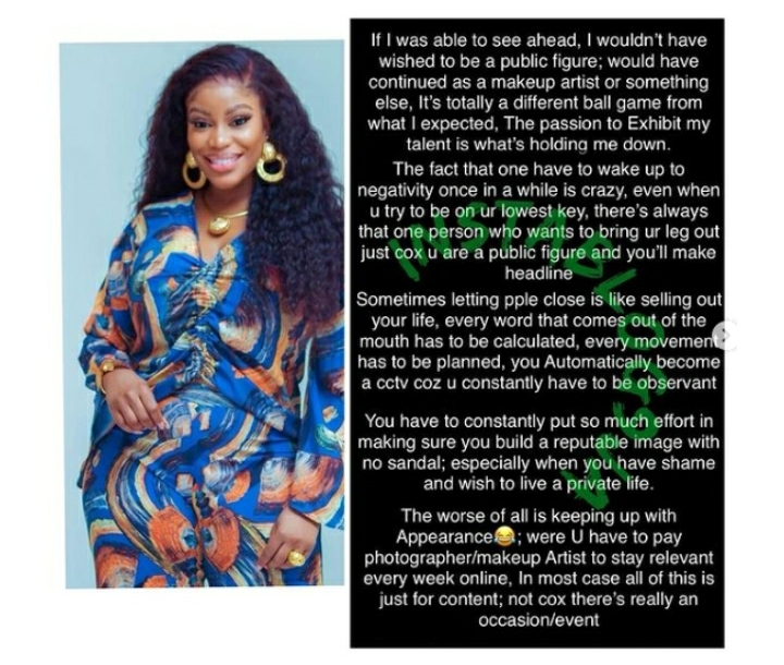 Regret Being A Public Figure — Media Personality, Eriata Ese Cries Out