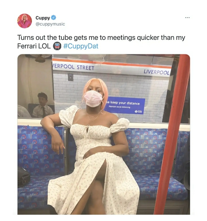 REACTIONS As DJ Cuppy Reveals She Prefers To Use Trains Than Using Her Ferrari Because The Ferrari Isn't Fast