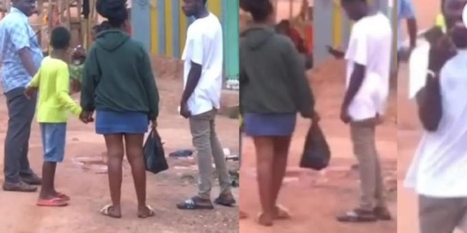 Moment boy confidently collects girl's phone number in the presence of her dad (video)