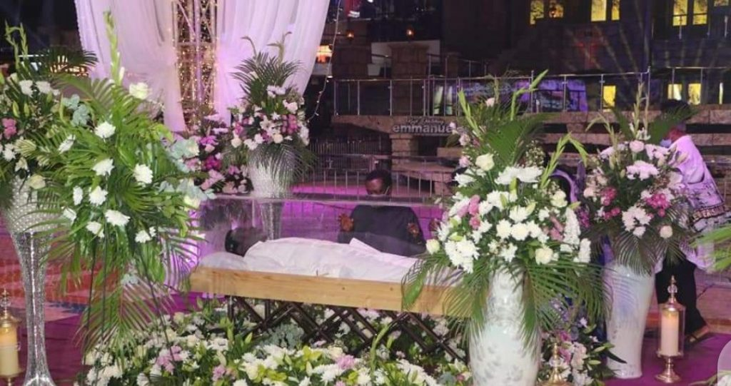Tears dropped freely as wife, children and other members of the SCOAN attended Prophet T B Joshua burial