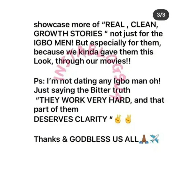 Stop Portraying Igbos As Ritualists – Actress Praiz Sam Tells Her Nollywood