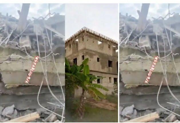 Pastor, Daniel Obasi Dies As His Under-Construction 2-Storey Building Slumps In Lagos (VIDEO)