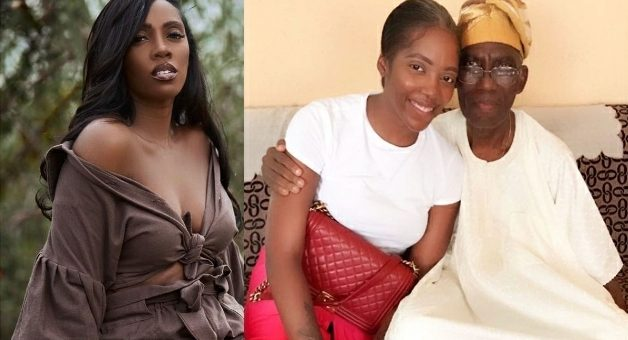 Tiwa Savage Visits Her Late Father's Home Following His Passing [VIDEO]