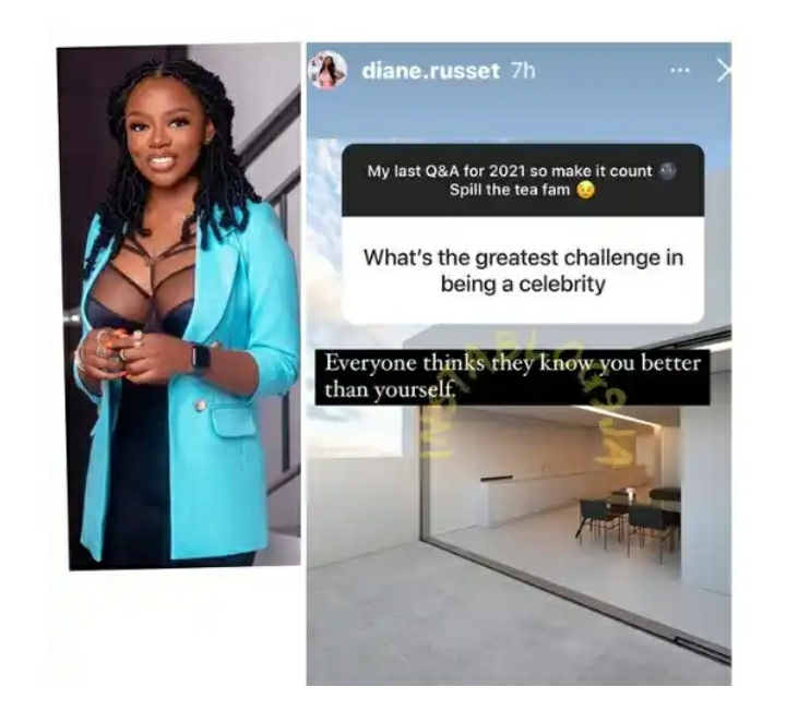 Reality TV Star, Diane Russet, Reveals The Greatest Challenge Of Being A Celebrity