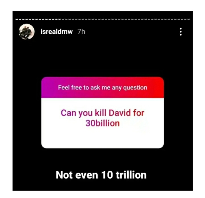 Isreal DMW Replies Man Who Offered Him 30 Billion To K!ll Davido