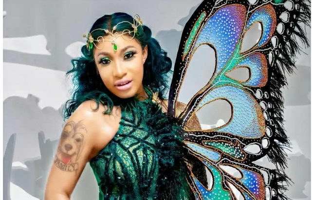 Tonto Dikeh's Butterfly Photos Gets Massive Reactions From Social Media Users