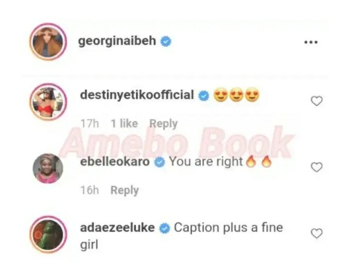 Destiny Etiko, Ebele Okaro And Adaeze Eluke React After Georgina Ibeh Made This Comment