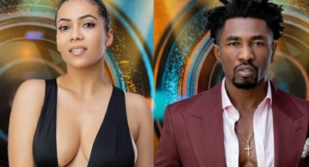 BBNaija: Moment Maria Walked To Boma And Kissed Him In Front Of Other Housemates [VIDEO]